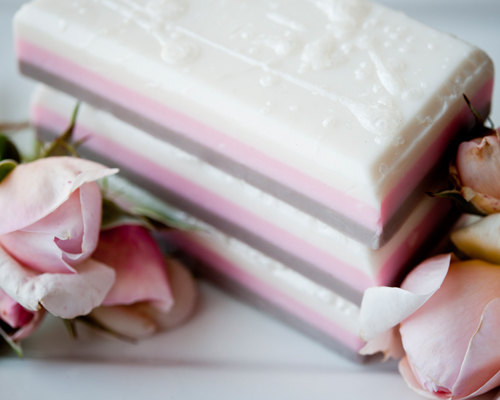 """Lolli's"" Sweet Neapolitan Shea & Mango Butter Soap Bar"
